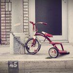 Giocare con il radio flyer tricycle